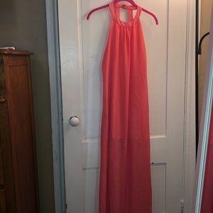 Sheer, Lined Maxi Dress